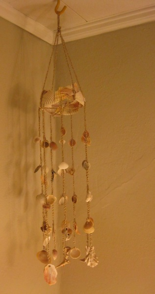 Handmade seashell windchime