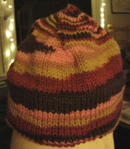 completely knitted hat