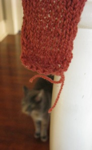 Detail of the earflap bind-off