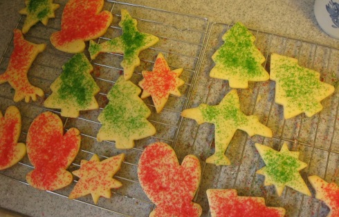 Classic cut out Christmas cookies