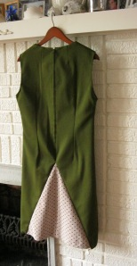 dark olive green dress