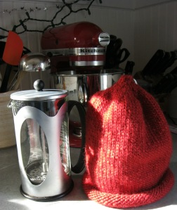 sweater and french press