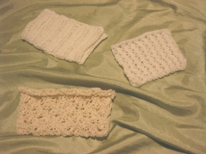 knitted portion of purse