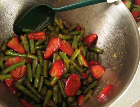 Strawberry and Green Bean Spring Salad