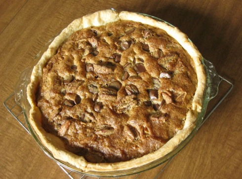 Kentucky Bourbon-Chocolate-Pecan Pie