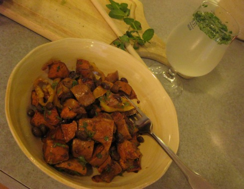 Sweet Potato Salad with Faux-jito