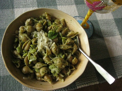 Fresh Butterbean Pesto Pasta