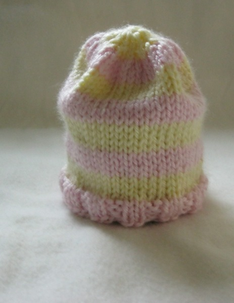 Striped baby hat